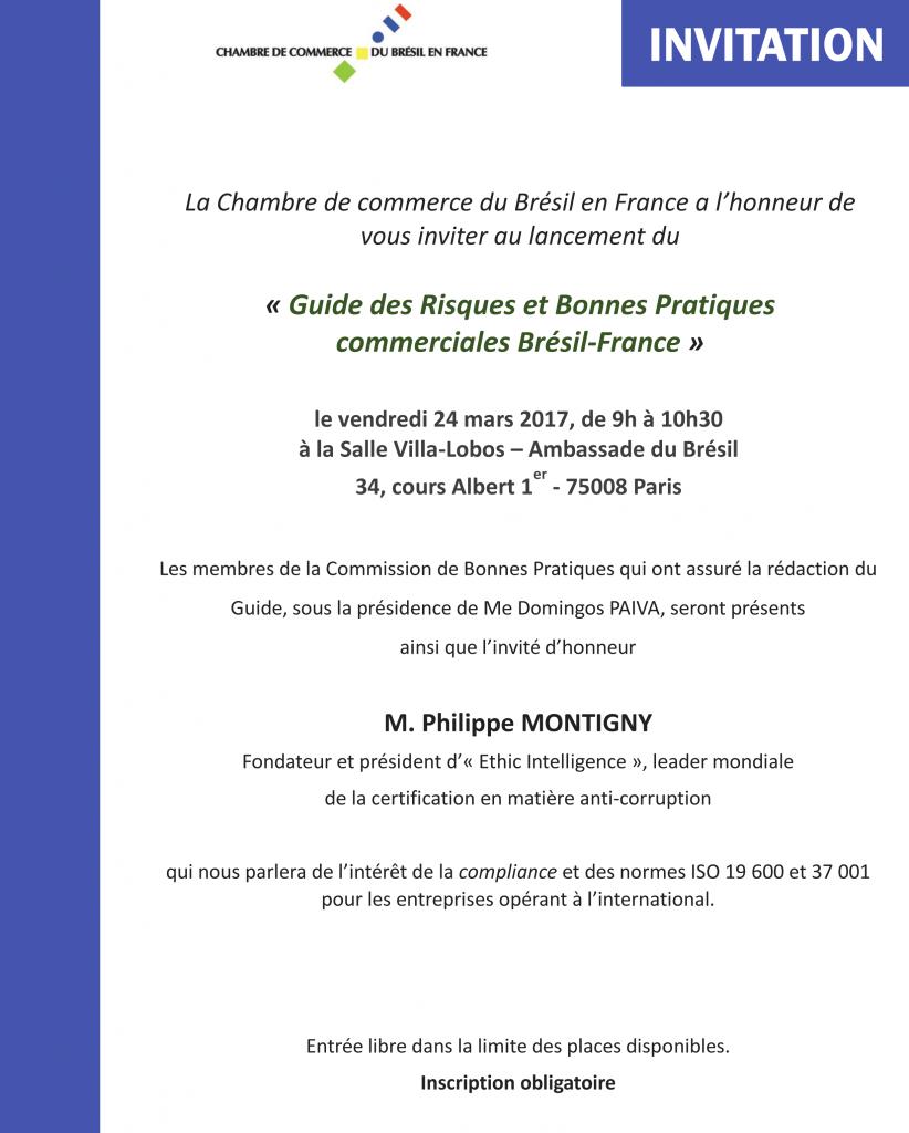 CCBF-Invitation - Lancement du Guide de Bonnes Pratiques