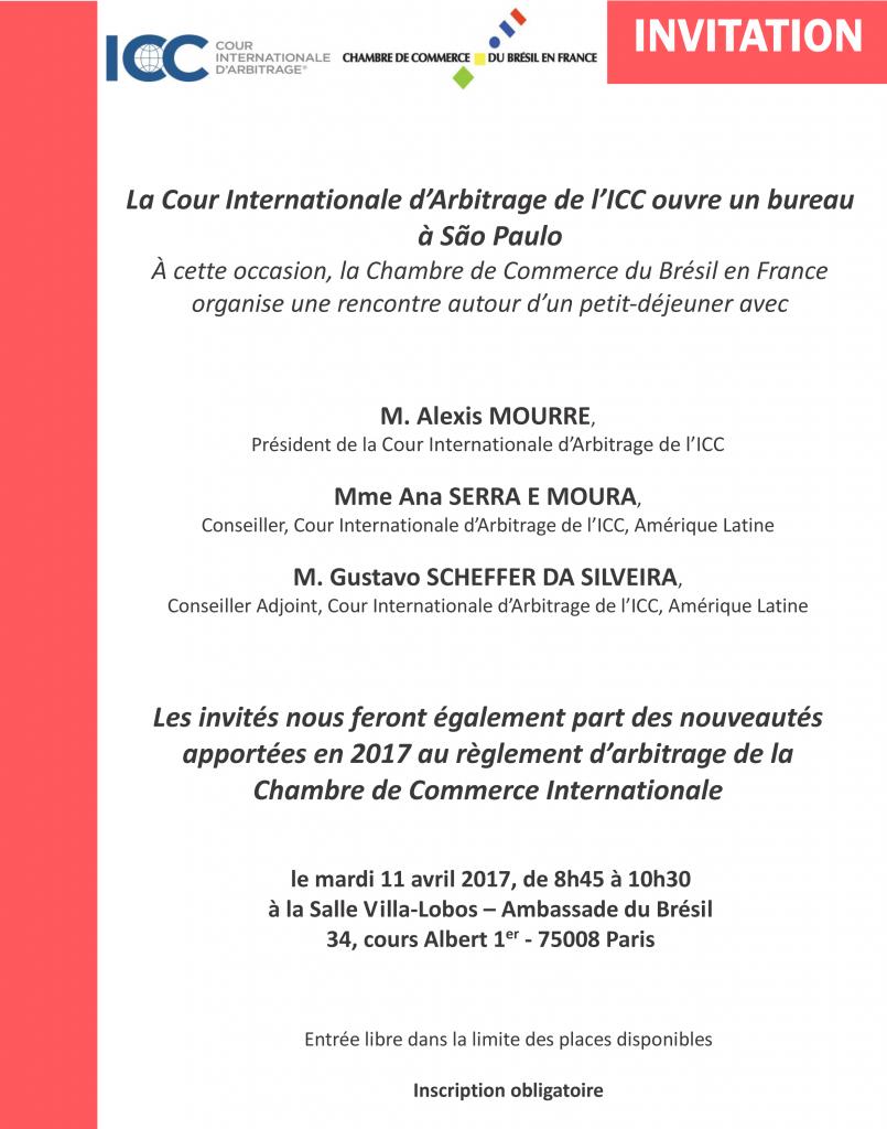 Invitation- Lancement de l'ICC