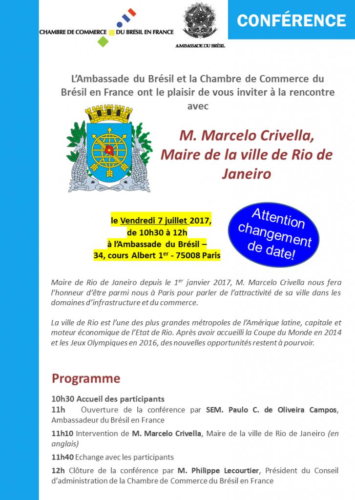 27.07.07 - Invitation Rencontre Maire de Rio de Janeiro